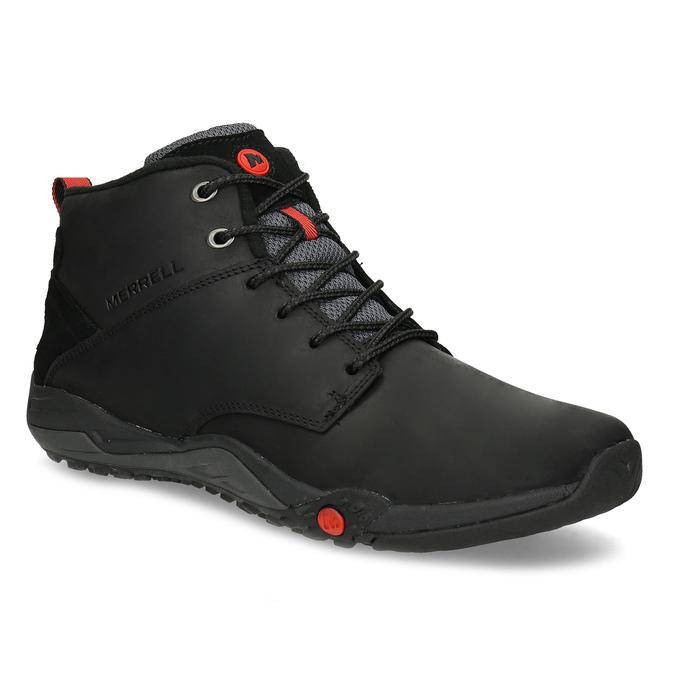 Kožená pánská kotníčková obuv outdoorová merrell, černá, 806-6102 - 13