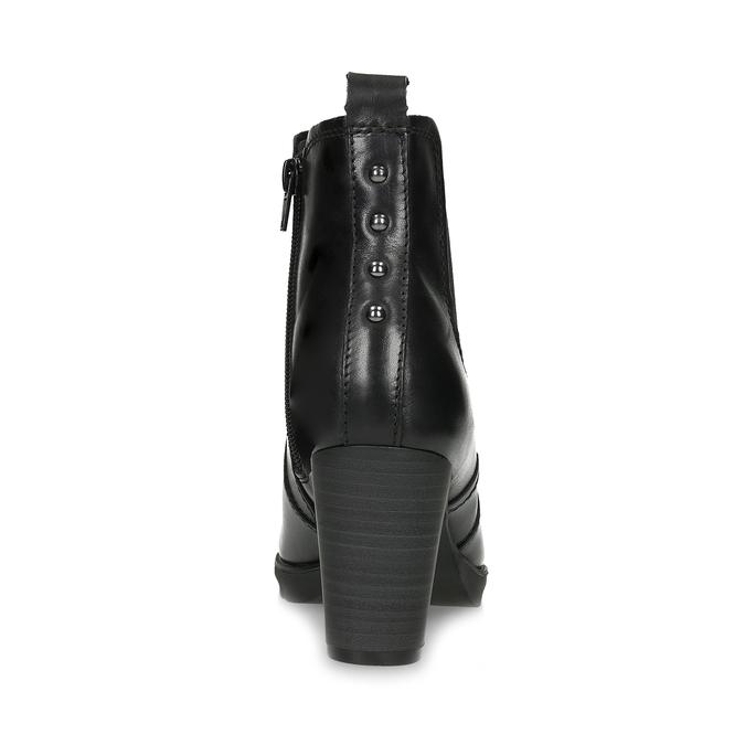 Kožené Chelsea na podpatku bata, černá, 794-6659 - 15