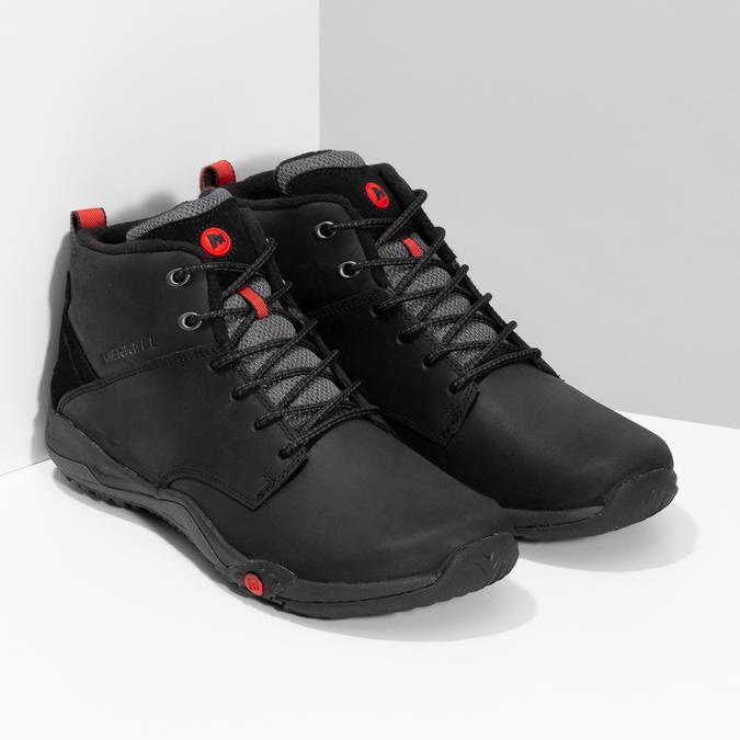Kožená pánská kotníčková obuv outdoorová merrell, černá, 806-6102 - 26
