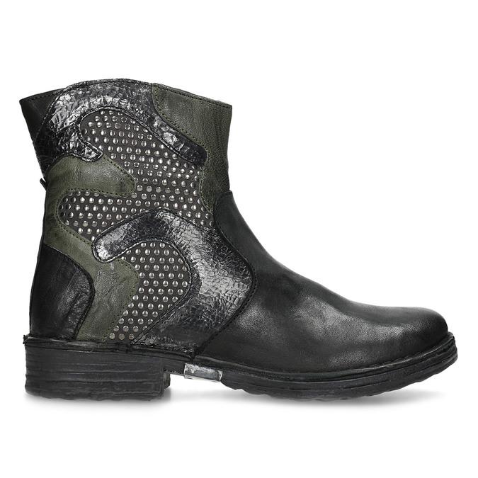 Kožená kotníčková obuv se cvočky bata, černá, 596-6742 - 19