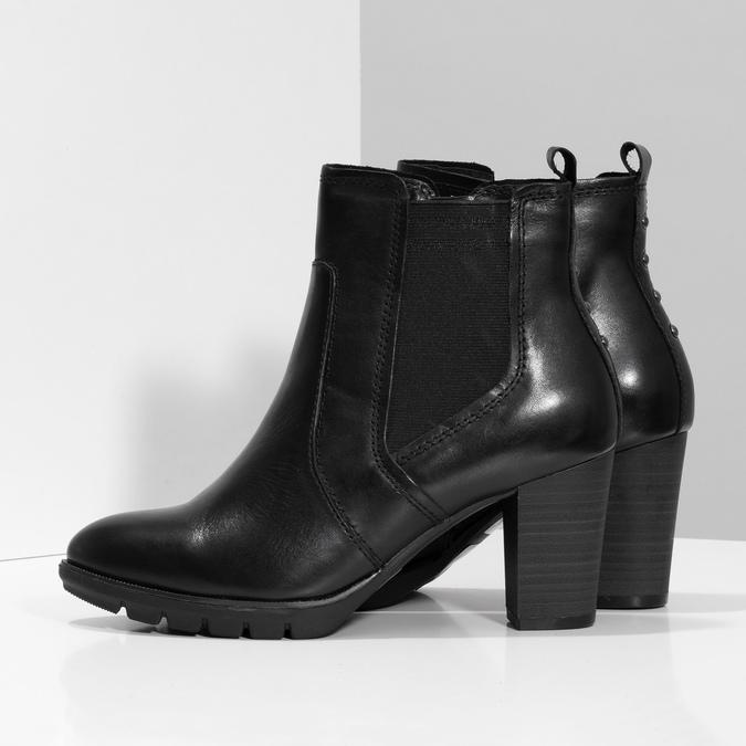 Kožené Chelsea na podpatku bata, černá, 794-6659 - 16