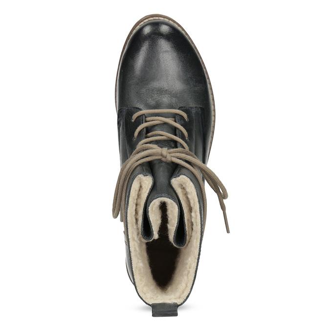 Tmavě modrá kotníčková obuv se zateplením bata, modrá, 596-9702 - 17