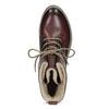 Kožená dámská kotníčková obuv se zateplením bata, červená, 596-5702 - 17