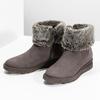 Kožená dámská zimní obuv s kožíškem bata, hnědá, 596-3704 - 16