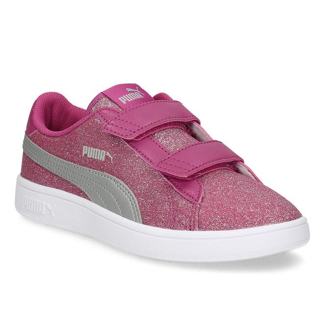 Puma Růžové dětské tenisky na suché zipy - Tenisky  488ce0631b