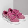 Růžové dětské tenisky na suché zipy puma, růžová, 301-5224 - 26