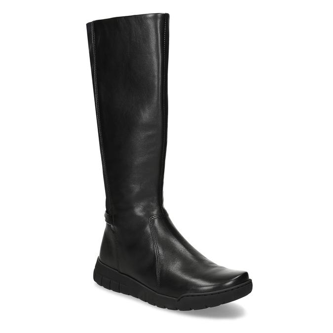 Dámské kožené černé kozačky bata, černá, 594-6684 - 13