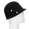 Černý dámský klobouk s perličkami bata, černá, 909-6283 - 13