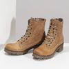 Dámská hnědá kožená kotníčková obuv weinbrenner, hnědá, 696-3668 - 16
