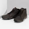 Kotníčková hnědá kožená pánská obuv merrell, hnědá, 806-4102 - 16