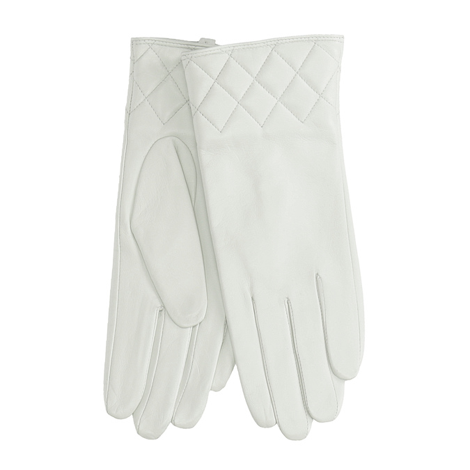 Kožené dámské rukavice bílé bata, bílá, 904-1131 - 13