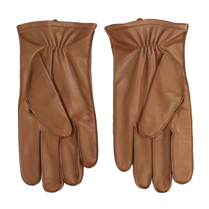 Pánské kožené rukavice světle hnědé bata, hnědá, 904-3143 - 16
