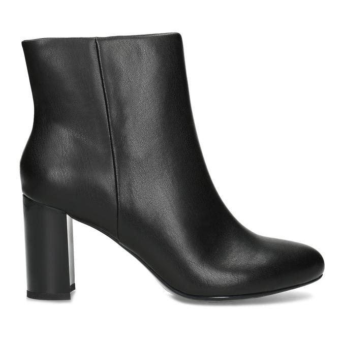 Černé kotníčkové kozačky na stabilním podpatku bata-b-flex, černá, 791-6615 - 19