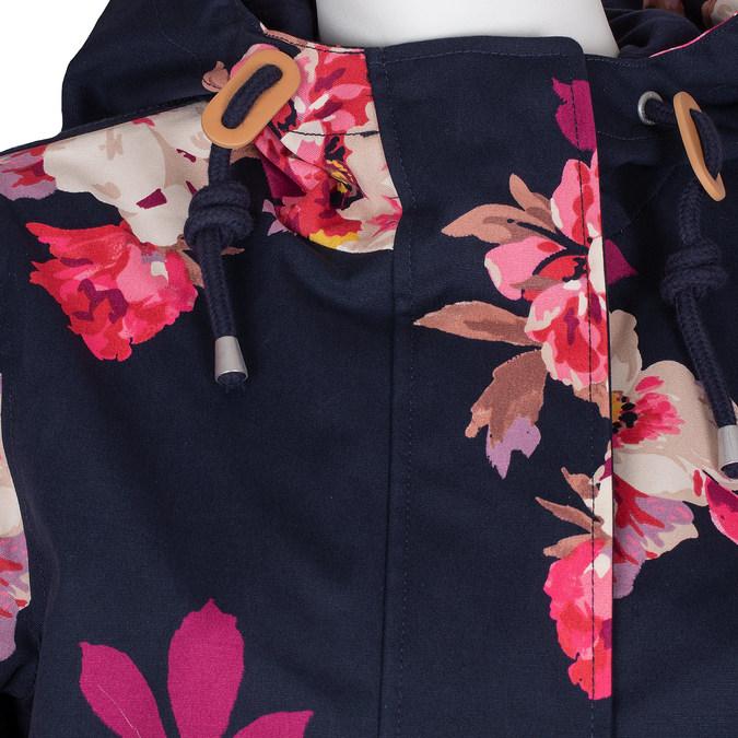 Modrá dámská bunda s květinovým vzorem joules, modrá, 979-9022 - 16