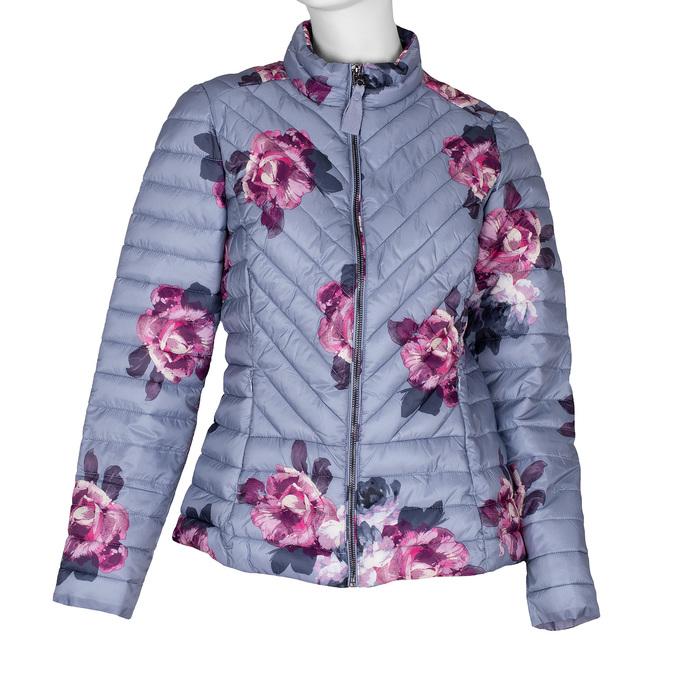 Prošívaná dámská bunda se vzorem joules, šedá, 979-2027 - 13