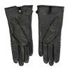 Dámské kožené rukavice kárované černé bata, černá, 904-6138 - 16