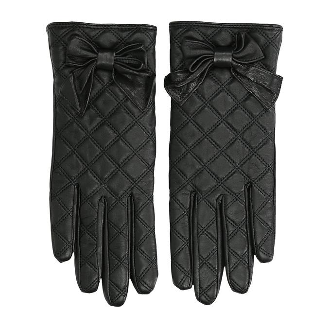Dámské kožené rukavice prošívané bata, černá, 904-6139 - 26