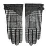 Dámské kožené rukavice kárované černé bata, černá, 904-6138 - 26