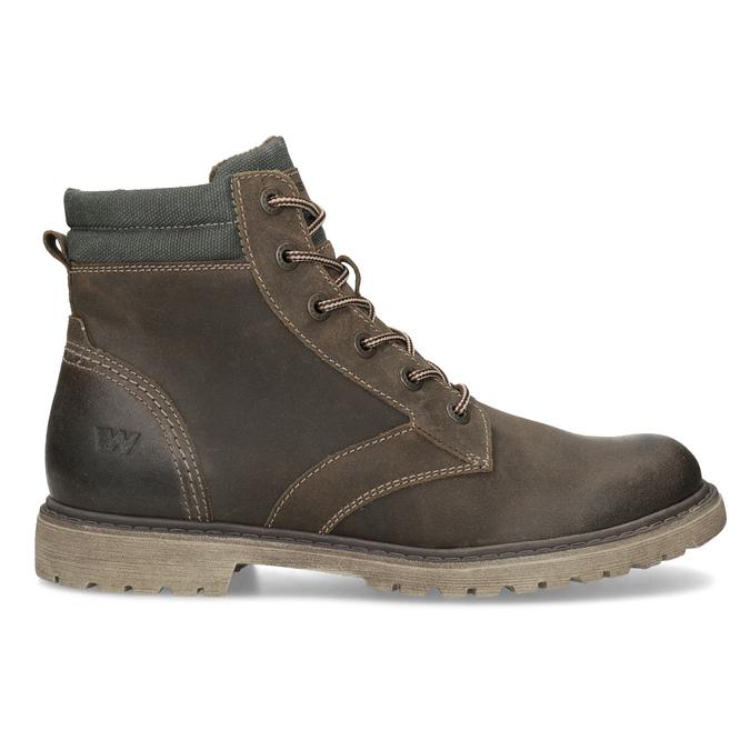 Hnědá kožená pánská zimní obuv weinbrenner, hnědá, 896-4693 - 19