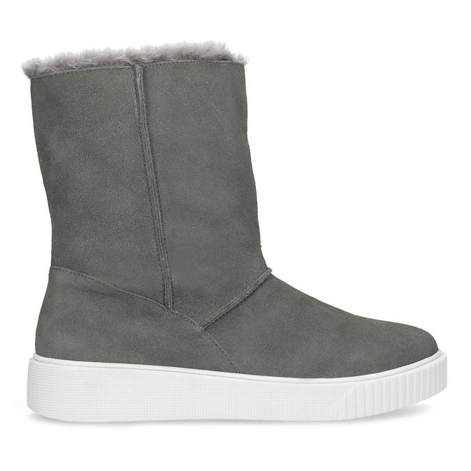 Dámská zimní kožená obuv šedá bata, šedá, 593-2613 - 19