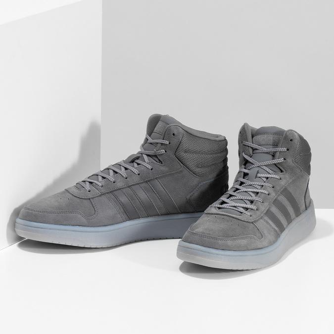 Pánské kotníčkové tenisky kožené šedé adidas, šedá, 803-2118 - 16