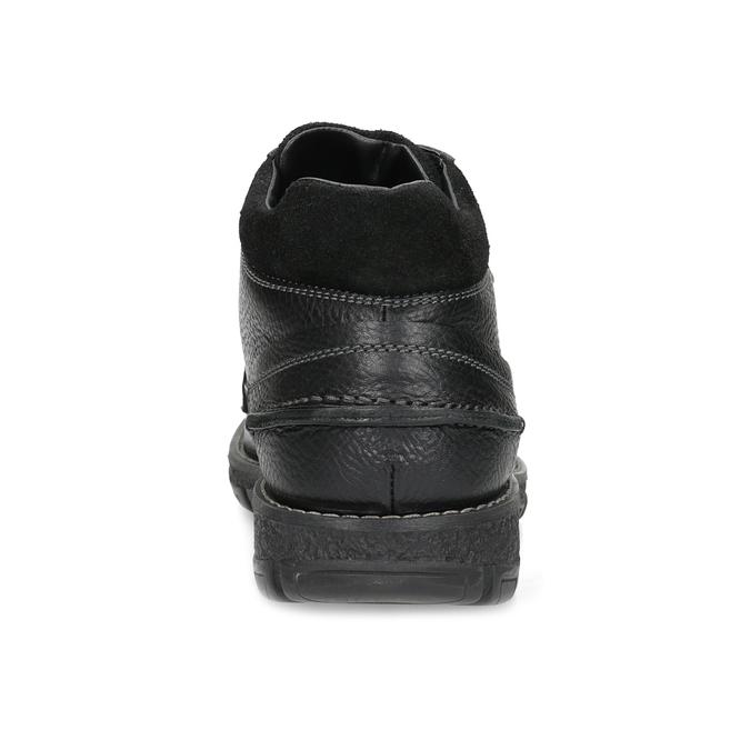 Pánské kožené zimní boty bata, černá, 894-6715 - 15