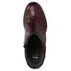 Kožená kotníčková obuv vínová bata, červená, 696-5666 - 17