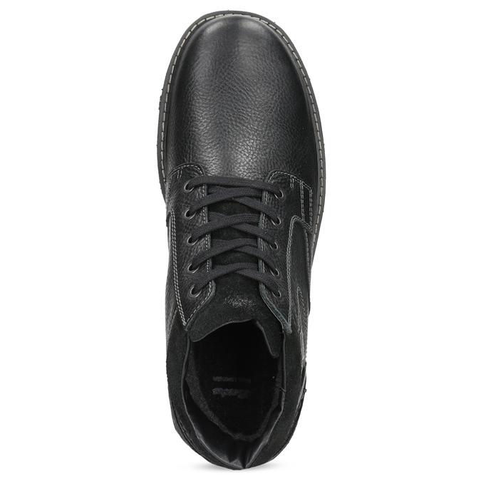 Pánské kožené zimní boty bata, černá, 894-6715 - 17