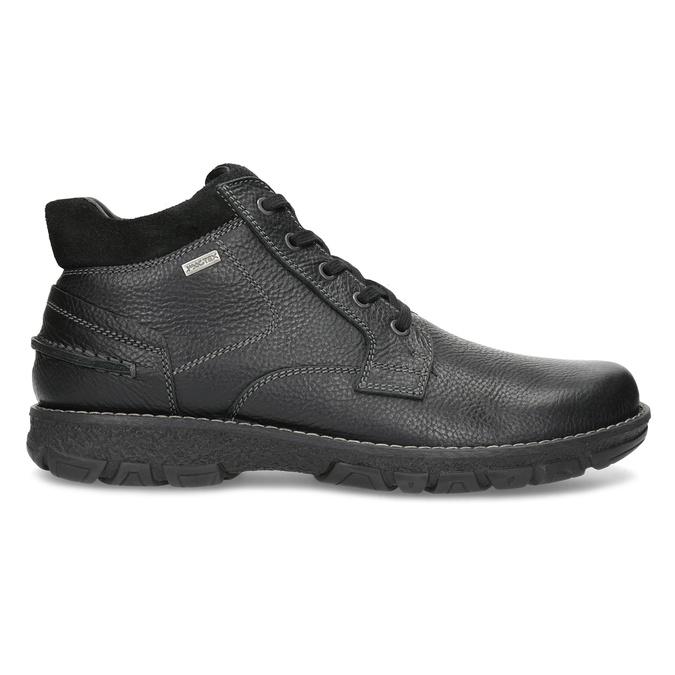Pánské kožené zimní boty bata, černá, 894-6715 - 19