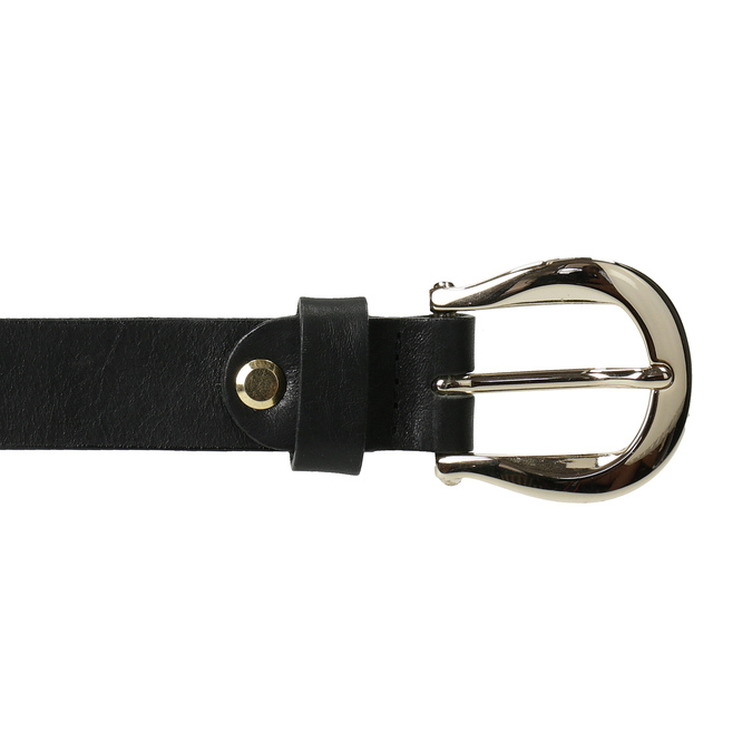 Dámský kožený opasek černý bata, černá, 954-6202 - 26