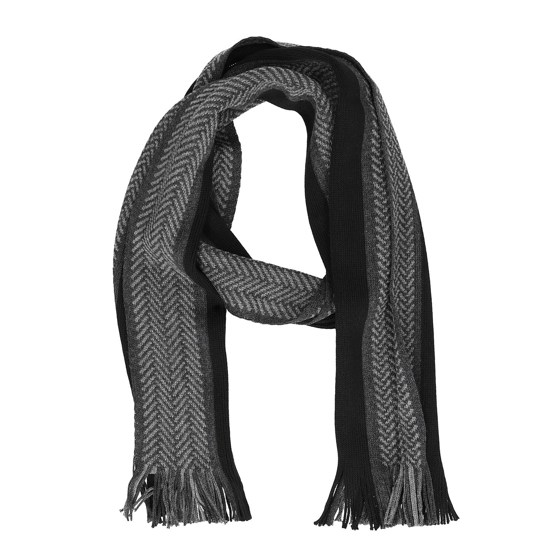 Baťa Pánská šedo-černá pruhovaná šála - Šátky a šály  ce0878a5ca