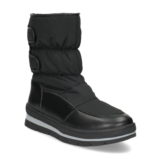 Černé dámské sněhule s výraznou podešví bata, černá, 599-6625 - 13