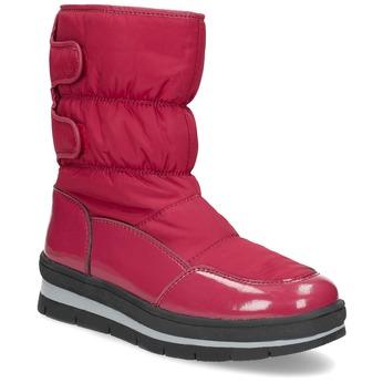 Červené dámské sněhule s černou podešví bata, červená, 599-5625 - 13