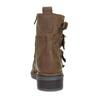 Hnědá kožená kotníková obuv s přezkami bata, hnědá, 596-4735 - 15