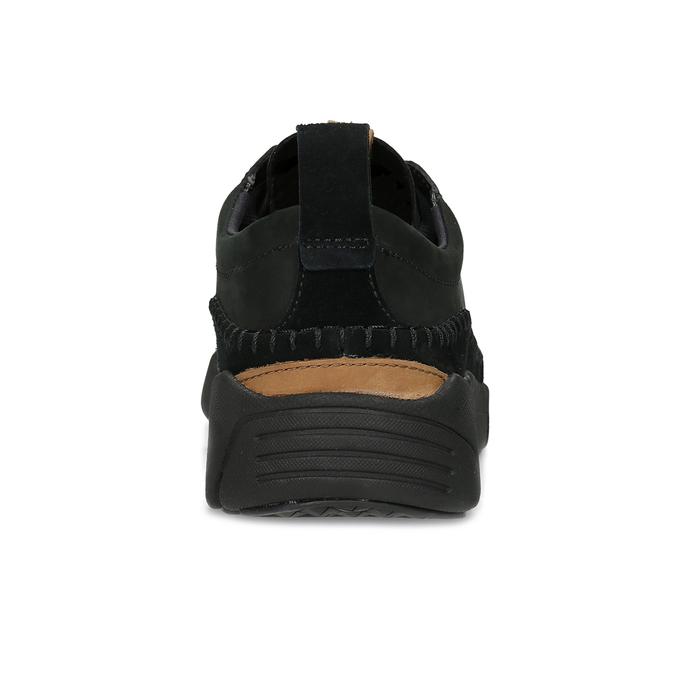 Černé pánské kožené tenisky clarks, černá, 824-6078 - 15