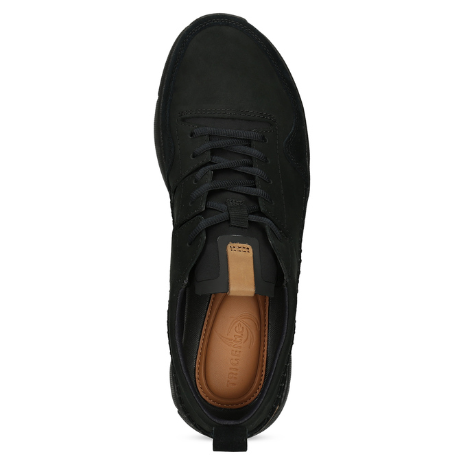 Černé pánské kožené tenisky clarks, černá, 824-6078 - 17