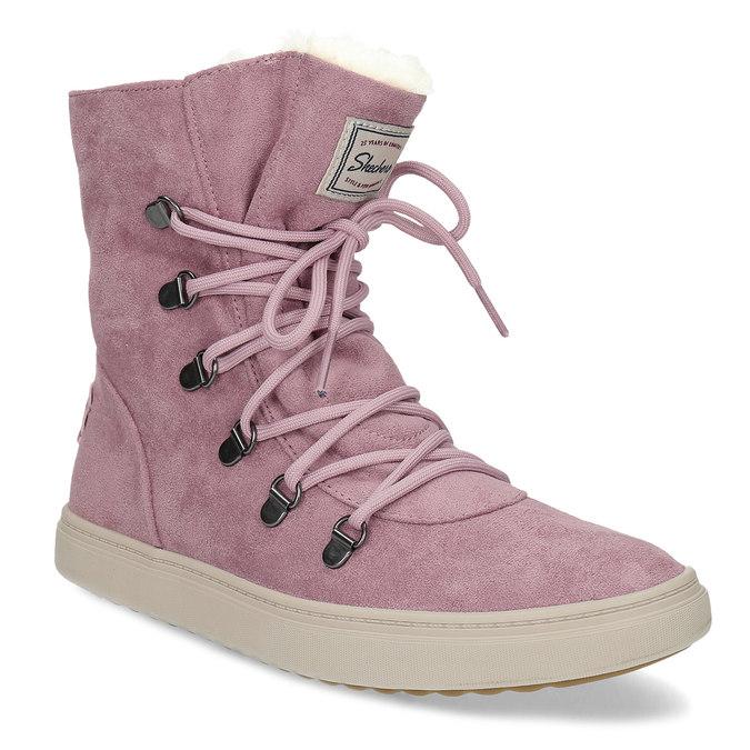 Skechers Dámská růžová zimní obuv se zateplením - Bez podpatku  27bb2e3883