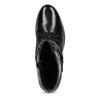 Dámská kožená kotníčková obuv s vysokým šněrováním hogl, černá, 524-6064 - 17