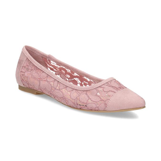 2aca5e42c2d Bata Red Label Růžové krajkové baleríny do špičky - Všechny boty ...