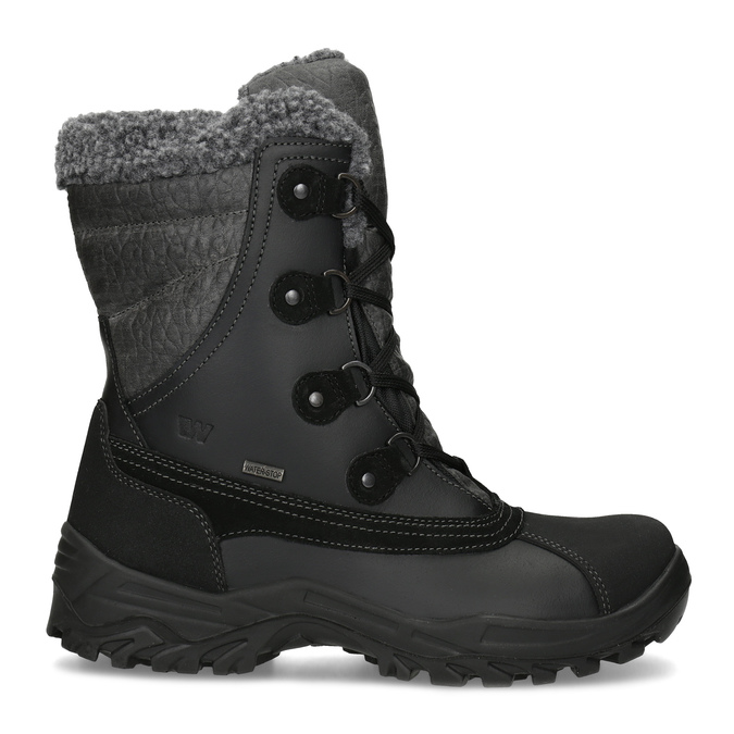 Pánské zimní sněhule se zateplením weinbrenner, černá, 896-6730 - 19