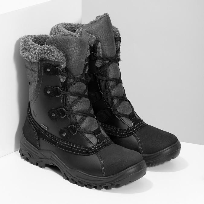 Pánské zimní sněhule se zateplením weinbrenner, černá, 896-6730 - 26