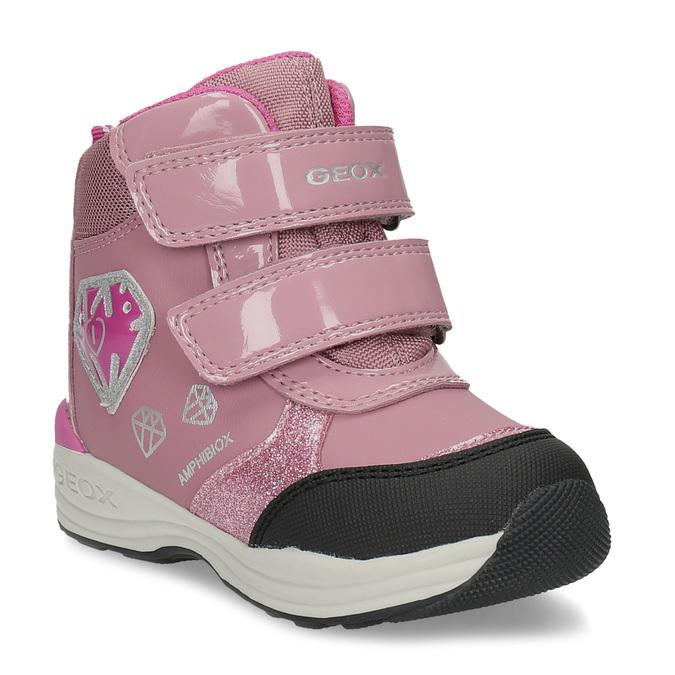 Geox Růžové dětské sněhule s princeznou - Všechny dětské boty  81b0387be5