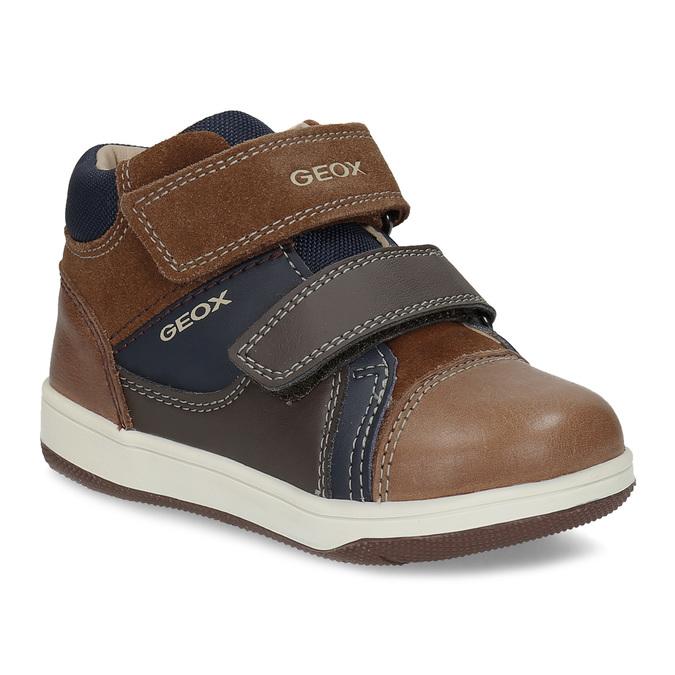 2ea7622cda Geox Dětská hnědá kožená kotníčková obuv - Všechny chlapecké boty ...