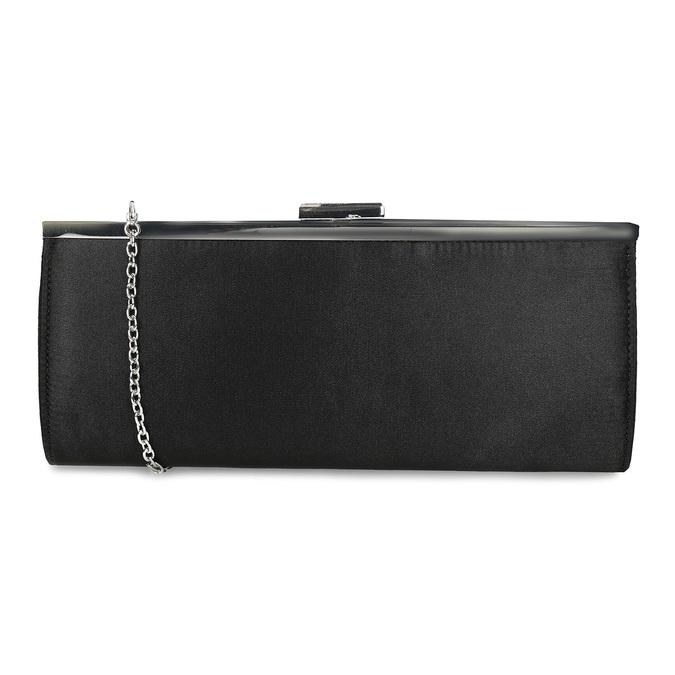 Černé dámské psaníčko s řetízkem bata, černá, 969-6811 - 16