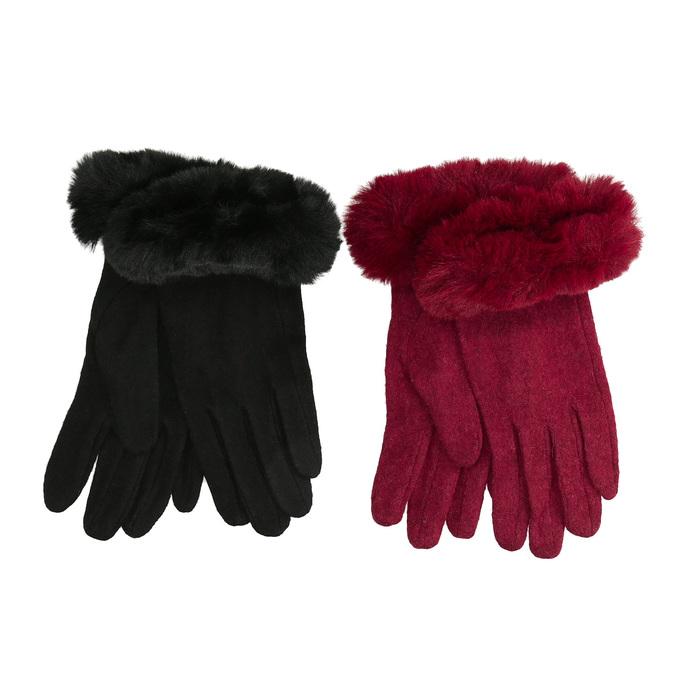 Dámské rukavice s kožíškem bata, vícebarevné, 909-0505 - 13