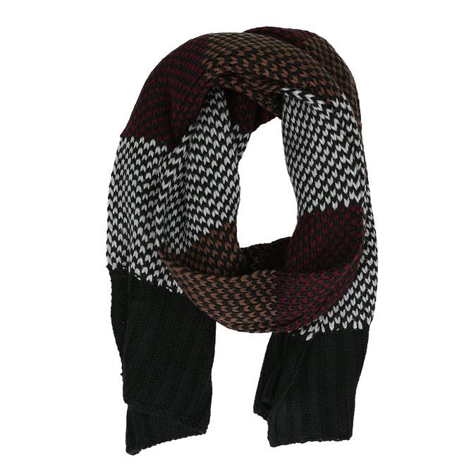 Pánská pletená pruhovaná šála bata, vícebarevné, 909-0692 - 16
