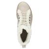 Kožená kotníčková zimní obuv s kožíškem weinbrenner, béžová, 596-8730 - 17