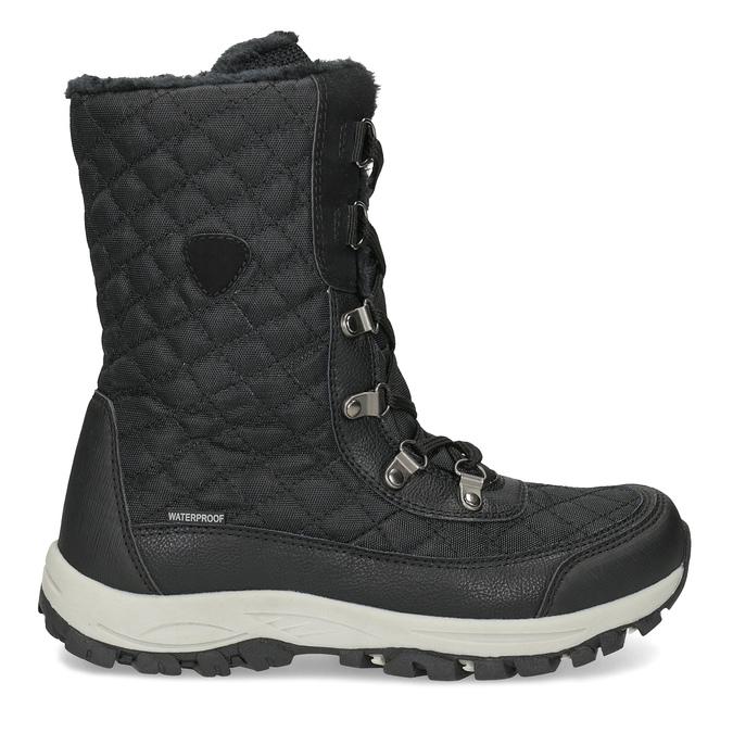 Dámské zimní prošívané sněhule bata, černá, 599-6623 - 19