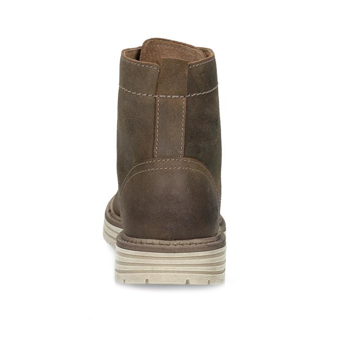 Pánská kotníčková obuv z broušené kůže weinbrenner, hnědá, 896-4734 - 15