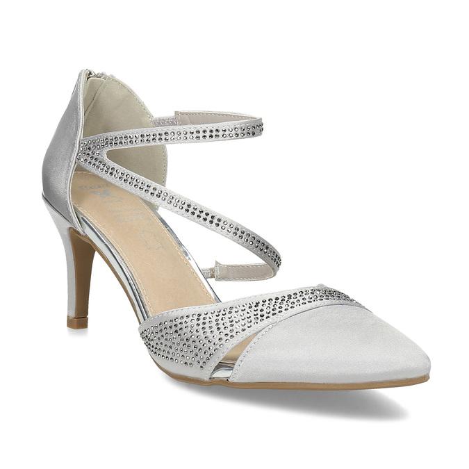 Insolia Stříbrné dámské sandály na jehlovém podpatku - Všechny boty ... b4adbe723c